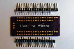 Programming the 29F032 on a Willem GQ-4X programmer.