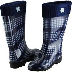 buy online 4d9c8 b34f5 North Carolina Tar Heels (UNC) Rain Boots - Navy Blue Carolina Pride,  Carolina