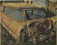 Abandoned cars Acrylic on canvas  Mixed media Inez Ribeiro