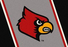 The University of Louisville Spirit Rug for dorm or home. Hundreds of colleges and universities available via BuyDirectUSA.com Like - Share - Repin