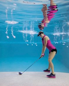 These cool underwater photos of Lexi Thompson were not easy to take