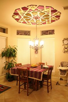 Beautiful Homes Islamic Moroccan Dining Table Ceilings