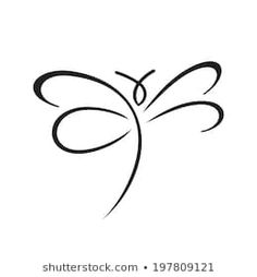 Butterfly Sign Branding Identity Corporate Vector Stock Vector (Royalty Free) 193498940 Dragonfly Drawing, Small Dragonfly Tattoo, Dragonfly Images, Dragonfly Art, Body Art Tattoos, I Tattoo, Small Tattoos, Heart Tattoos, Karma Tattoo