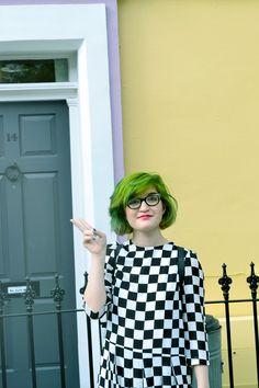 green hair #hairdare