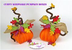 Curvy Keepsake Pumpkin Boxes