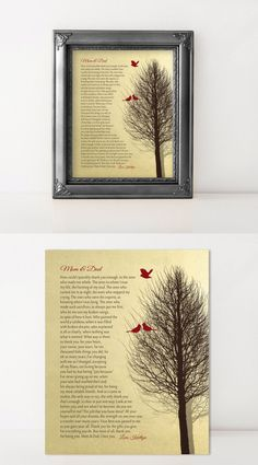 CHRISTMAS Gift for PARENTS Gift from Daughter, from Son Gift for Mom and Dad Personalized Print Anniversary Gift CHRISTMAS 2016