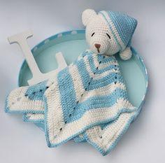 crochet tutorial for baby ♥ Crochet Security Blanket, Crochet Lovey, Crochet Teddy, Crochet Toys, Crochet Animals, Knit Crochet, Crochet Dolls Free Patterns, Crochet Blanket Patterns, Amigurumi Patterns