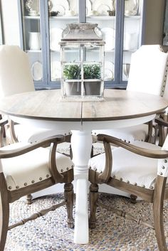 Dining Table Makeover  Whitewash Table Top And White Chalk Paint Endearing Oak Dining Room Furniture Decorating Inspiration