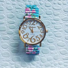 Geneva Floral Watch Hot Buy Retail NWT watch, wristband is has stretch Geneva Accessories Watches