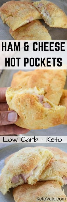 Wow check these Ham and Cheese Hot Pockets for breakfast! This keto low carb recipe uses fathead dough will make a delicious ketogenic breakfast!