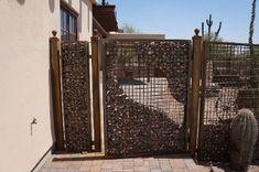 Gavión estructura puerta y vallado