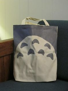 Totoro-inspired canvas tote from Sneaky Coon $15