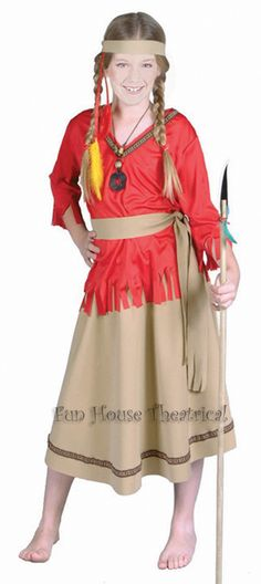 girls indian costume haloween | native american indian girl costume child halloween costume ...