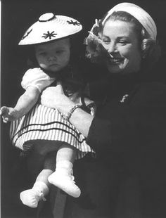 casiraghitrio:  Princess Grace with daughter Princess Caroline in national dress
