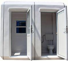Cabine de paza cu grup sanitar.