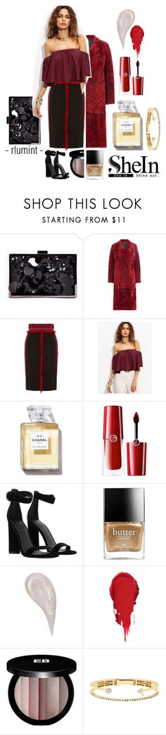 """""""That's What I Like"""" by beccalumint ❤ liked on Polyvore featuring Boohoo, Joseph, Altuzarra, Giorgio Armani, Kendall + Kylie, Butter London, Edward Bess and Delfina Delettrez"""