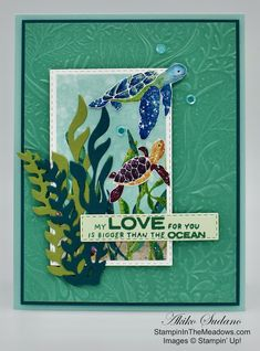 Paper Cards, Folded Cards, Nautical Cards, Beach Cards, Stampin Up Cards, Altenew Cards, Ink Pads, Stamping Up, Paper Design