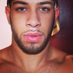 beautiful male lips