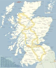 Scotland: Map, Touring Recommendations, Accomodations