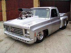 Silver step Chevrolet Silverado, Chevrolet Trucks, Chevy Stepside, Chevy Pickups, C10 Trucks, Pickup Trucks, 1984 Chevy Truck, Hot Rod Pickup, Trucks Only