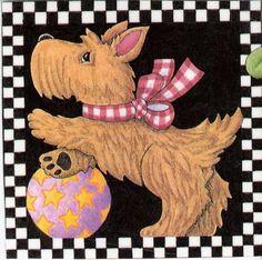 Scottie Puppy Mary Engelbreit Art