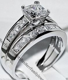 Sterling Silver Square Diamond cut Engagement Ring Wedding Set Valentine's Gift #ebay #Jewelry #Gifts #giftforher #Birthday #valentinesday #valentine #valentinesdaygift #anniversary#diamonds #Diamond #diamondjewellery #bridetobe #bridestyle #bride #bridal #jewelry #wedding #weddings #engagement #ring #rings #engagementrings