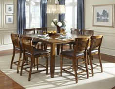 Delphina 9 Piece Counter Height Dining Set