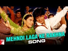 "Watch Kajol & ShahrukhKhan superhit song ""Mehndi Laga Ke Rakhna"" from Dilwale Dulhania Le Jayenge."