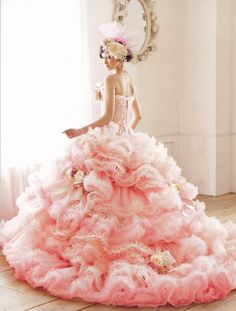 dball ~ dress ballgown it'd be better in white or light blue? Blue or the pink it's in?
