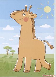 Laat de allejongsten vlekken maken met verf aan hun vingertop. Free printable giraf