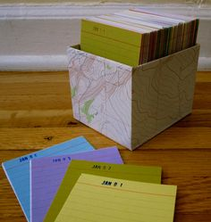 Perpetual Calendar Journal : Good idea to use each year. Write the year with what you did after. See several years for one day at a glance.