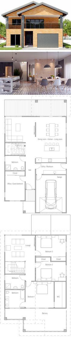 Architecture, Modular Prefab house plan