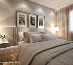 If you're more attracted to the masculine feel, then a combo of rustic details, rich woods and velvet sofas works a treat. Hotel Room Design, Bedroom Bed Design, Modern Bedroom Design, Home Bedroom, Interior Design Living Room, Bedroom Decor, Estilo Interior, Master Room, Suites