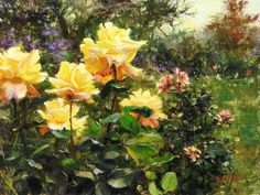 A Walk Through My Painted Garden | Master Oil Painting by Bill Inmn