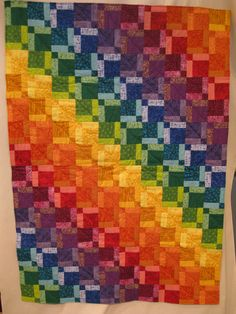 """Over the Rainbow"" Disappearing 9Patch quilt"