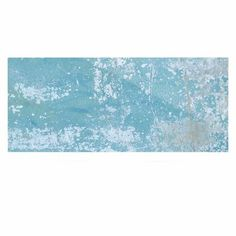 """East Urban Home Vintage 'Galvanized Blue' Painting Print on Metal Size: 16"""" H x 20"""" W x 1"""" D"""