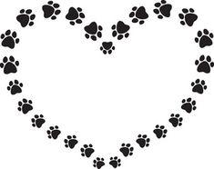 Dog Paw Print Clip Art | black_and_white_puppy_dog_ ...