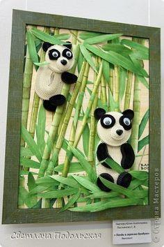 Картина, панно Квиллинг: Панды в зарослях бамбука и не только Бумага Отдых. Фото 1