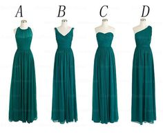 mismatched bridesmaid dresses teal bridesmaid by Yesdresses, $119.00: