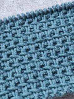 Knitting Stitches, Knitting Patterns Free, Free Knitting, Stitch Patterns, Crochet Patterns, Tunisian Crochet, Knit Crochet, Crochet Hats, Wooly Jumper