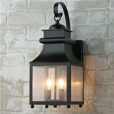 3 or 4 Exterior Wall Lanterns - Homesteader Seeded Glass Outdoor Wall Lantern 19h 7.5w $99 each