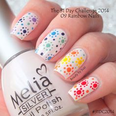 The 31 Day Challenge 2014: 09. Rainbow nails #31DC2014