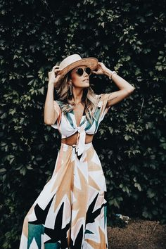 Perfect printed two piece set