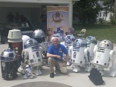 Surrounded by Astromech droids at the Midwest Builders meeting, Toledo. May 4th. 2013. May the 4th be with you!