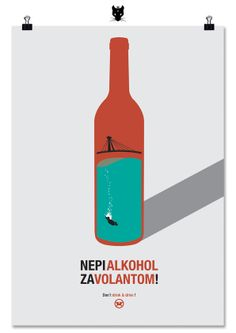 """Poster on """"Don't Drink and Drive"""""""