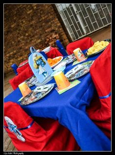 Smurfs Theme Party   Blue and Red colours