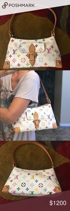 """Authentic Louie Vuitton Purse Beautiful multi-colored purse in great condition. Just don't use. Does not come with dust bag.  Not included included in bundle discount.   Size 10.5""""w x 5.5""""w x 3.5"""". Louis Vuitton Bags Shoulder Bags"""