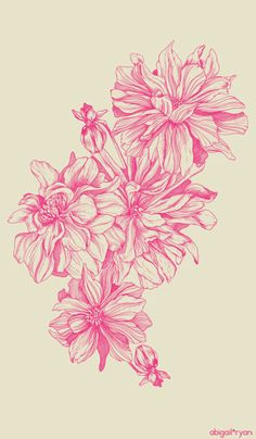 Image of Tea-towel | Dahlia: Raspberry. Would so get this on my shoulder