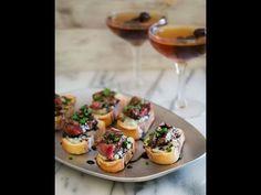 Manhattan Cocktail & Blue Cheese Steak Crostini for Valentine's - YouTube