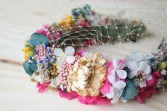 Diy: diadema de flores preservadas y secas paso a paso